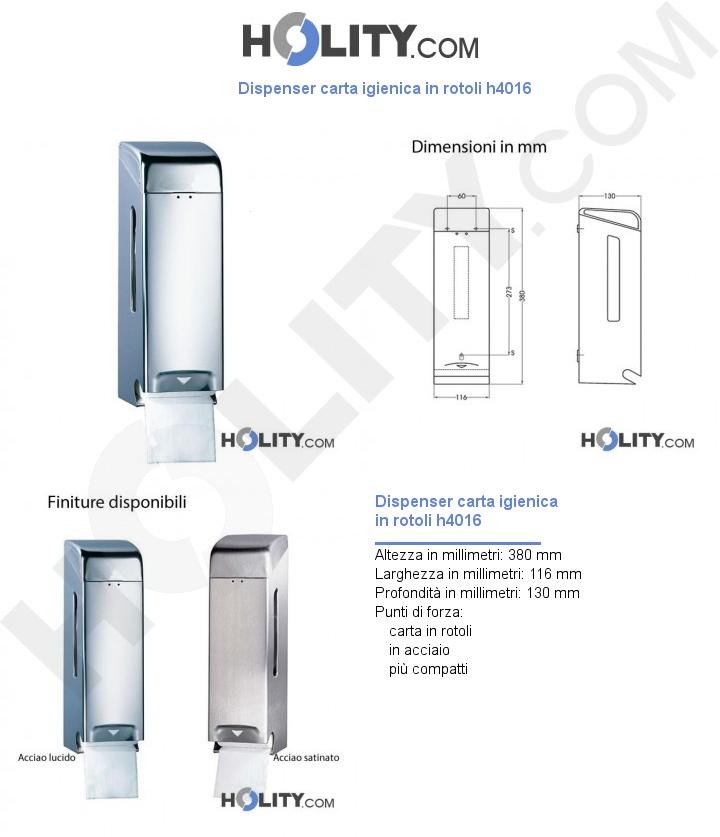 Dispenser carta igienica in rotoli h4016