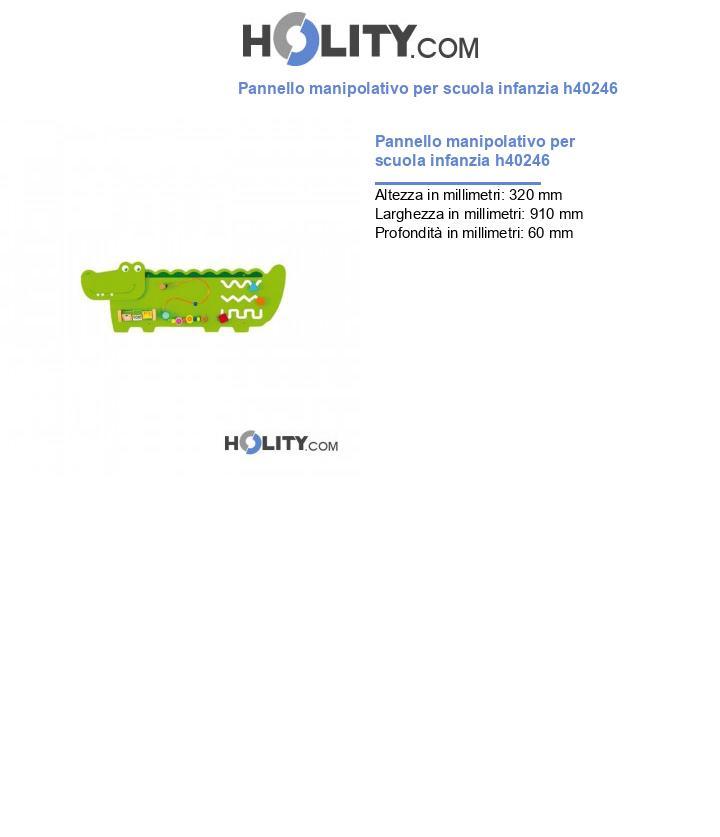 Pannello manipolativo per scuola infanzia h40246