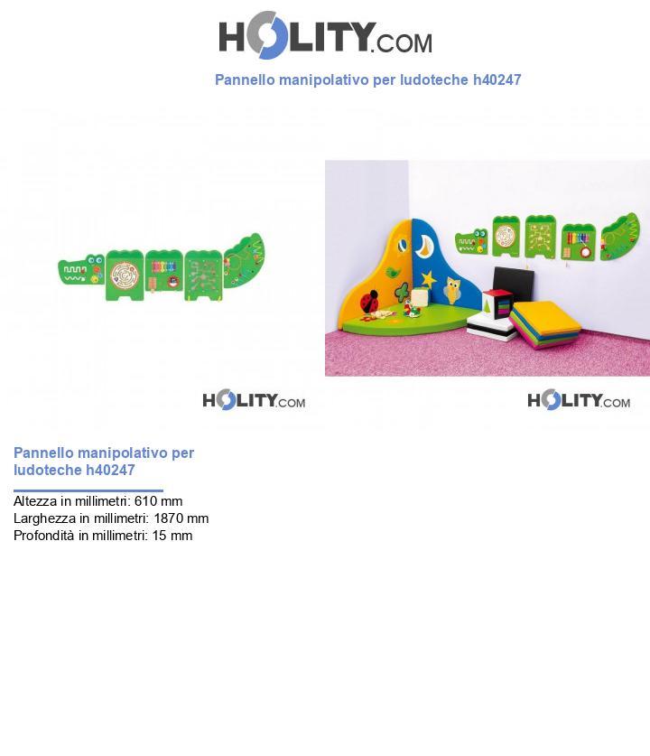 Pannello manipolativo per ludoteche h40247