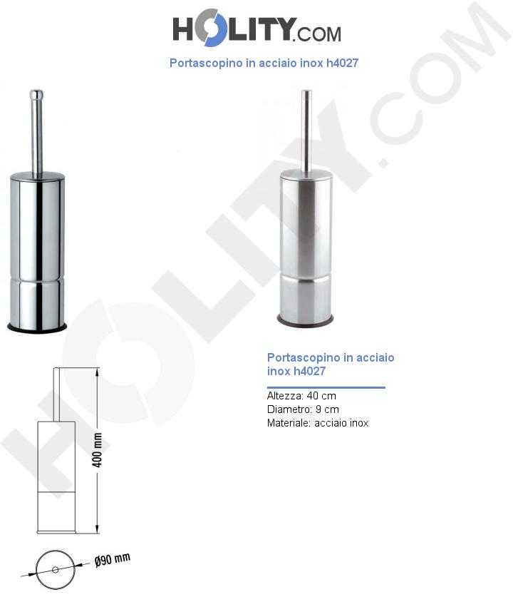 Portascopino in acciaio inox h4027