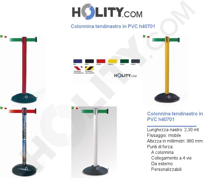 Colonnina tendinastro in PVC h40701