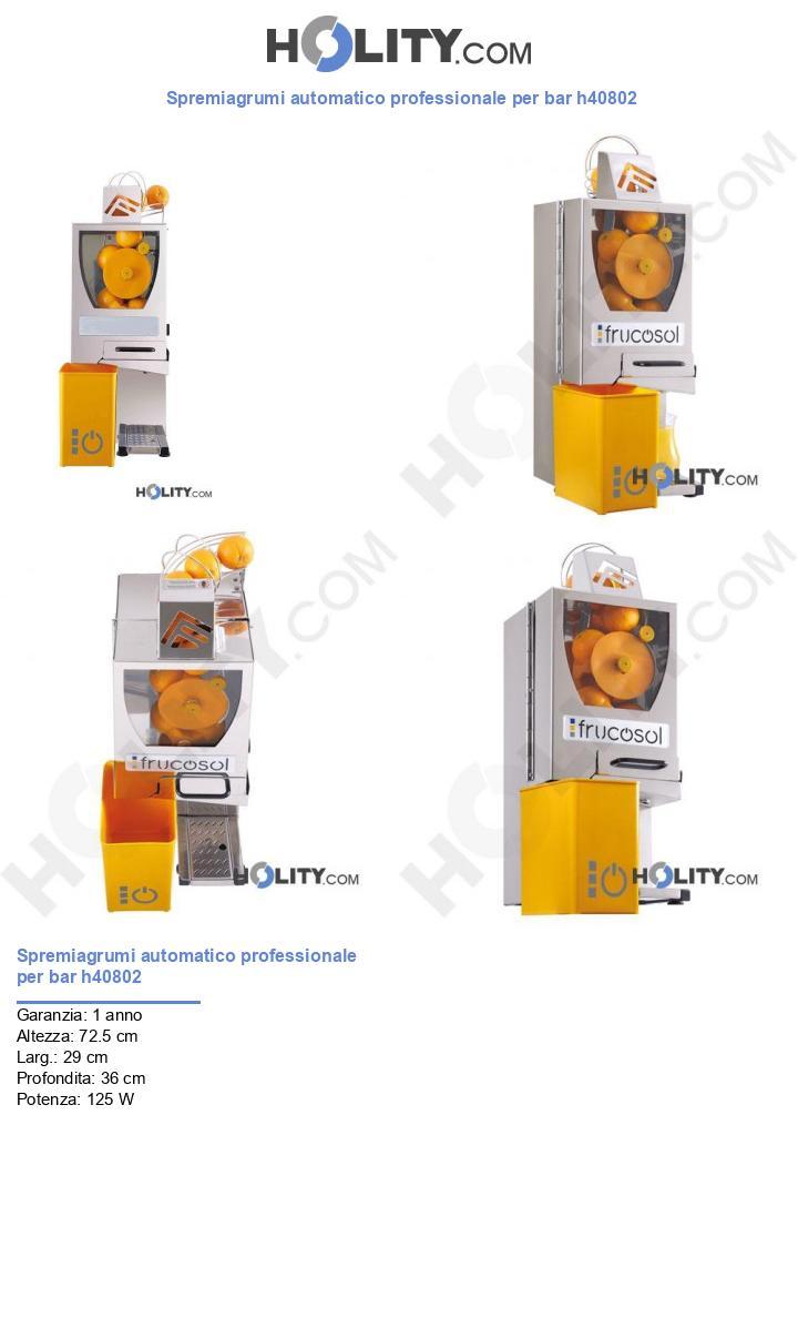 Spremiagrumi automatico professionale per bar h40802