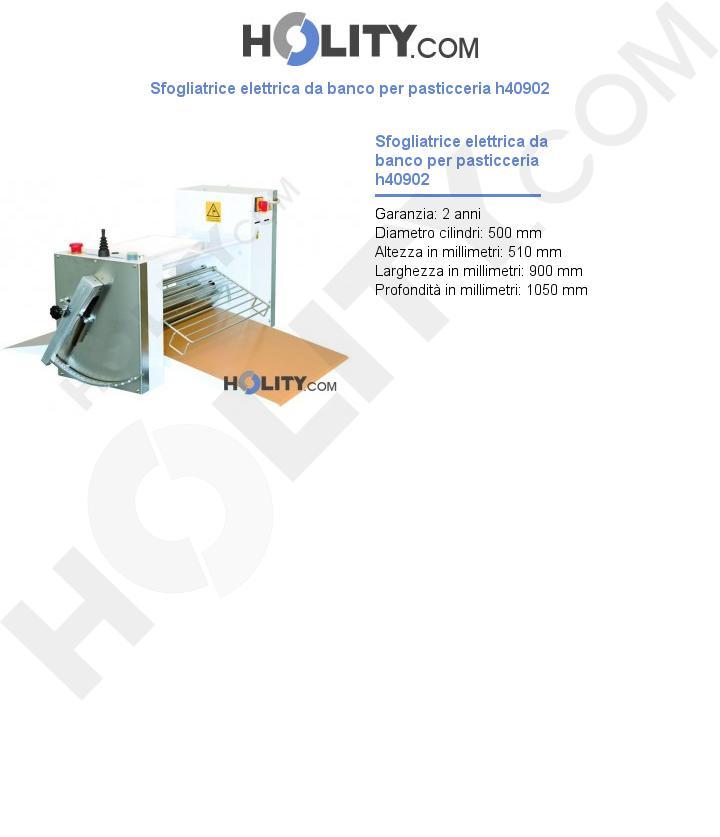 Sfogliatrice elettrica da banco per pasticceria h40902