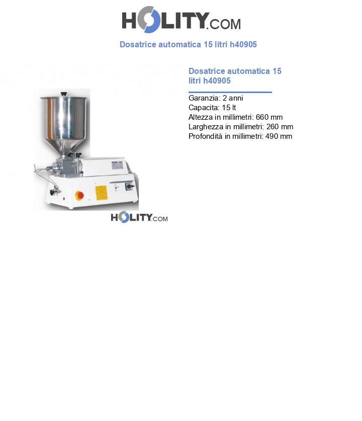 Dosatrice automatica 15 litri h40905