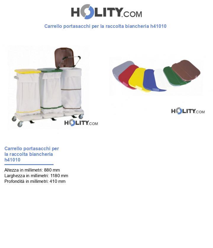 Carrello portasacchi per la raccolta biancheria h41010