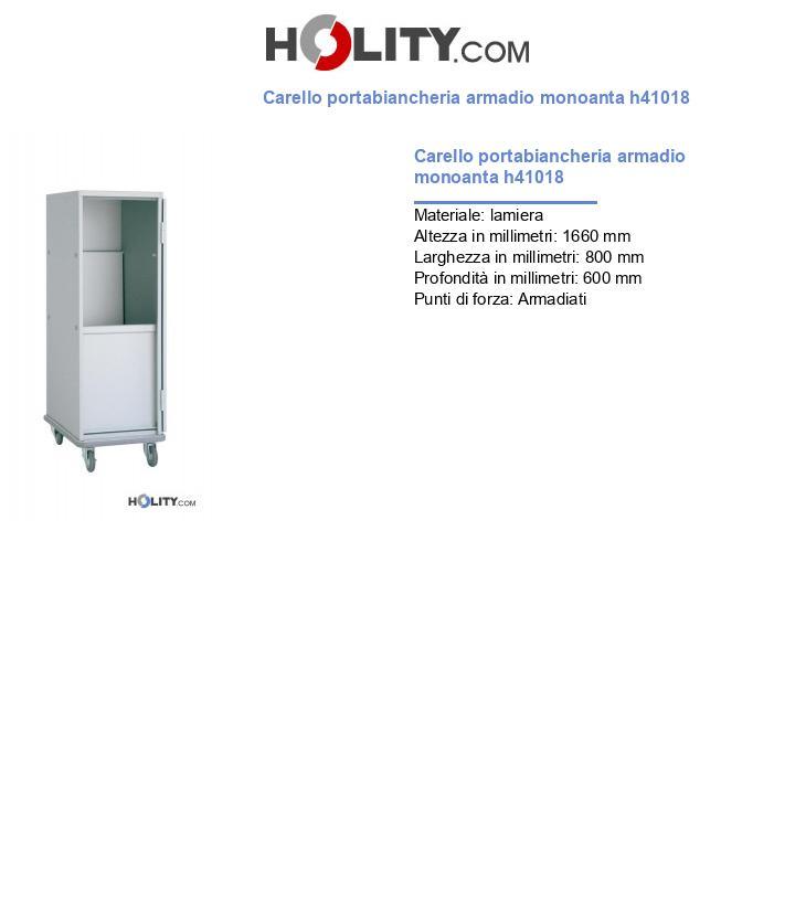 Carello portabiancheria armadio monoanta h41018