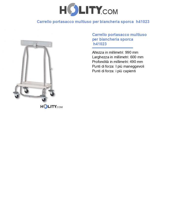 Carrello portasacco multiuso per biancheria sporca  h41023