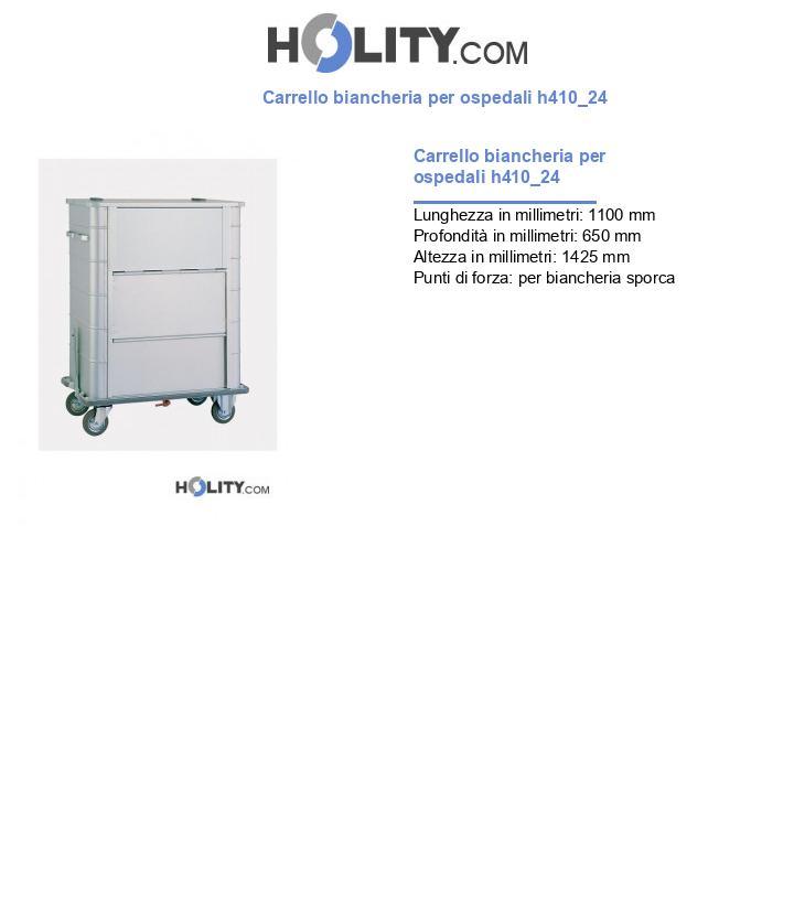 Carrello biancheria per ospedali h410_24
