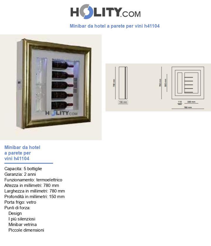Minibar da hotel a parete per vini h41104