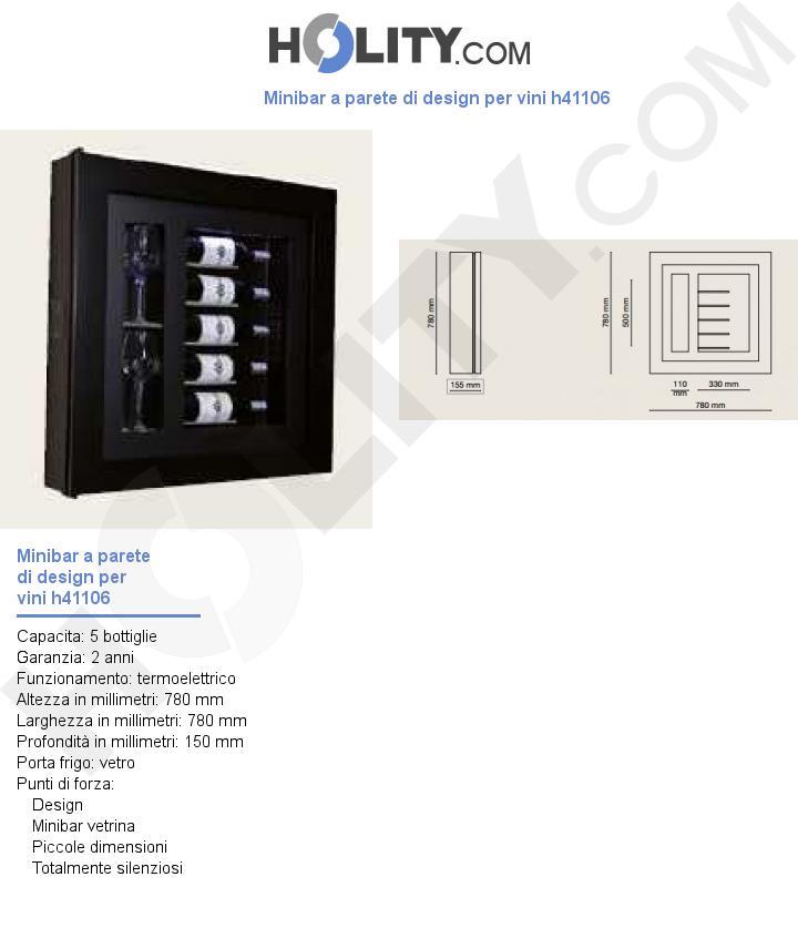 Minibar a parete di design per vini h41106