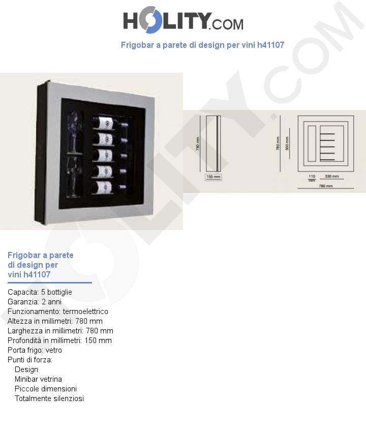 Frigobar a parete di design per vini h41107