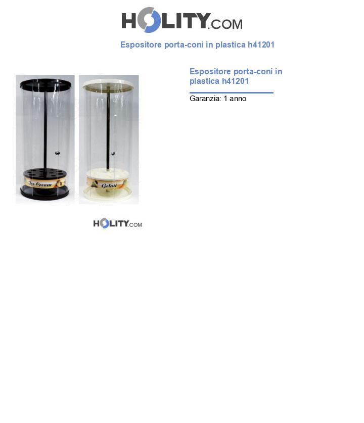 Espositore porta-coni in plastica h41201