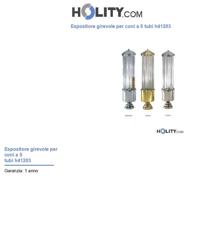 Espositore girevole per coni a 5 tubi h41203