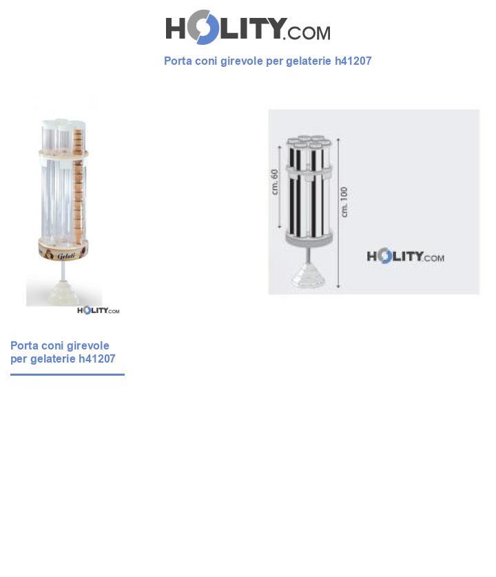 Porta coni girevole per gelaterie h41207