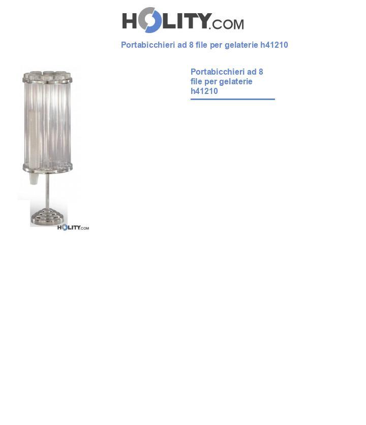 Portabicchieri ad 8 file per gelaterie h41210