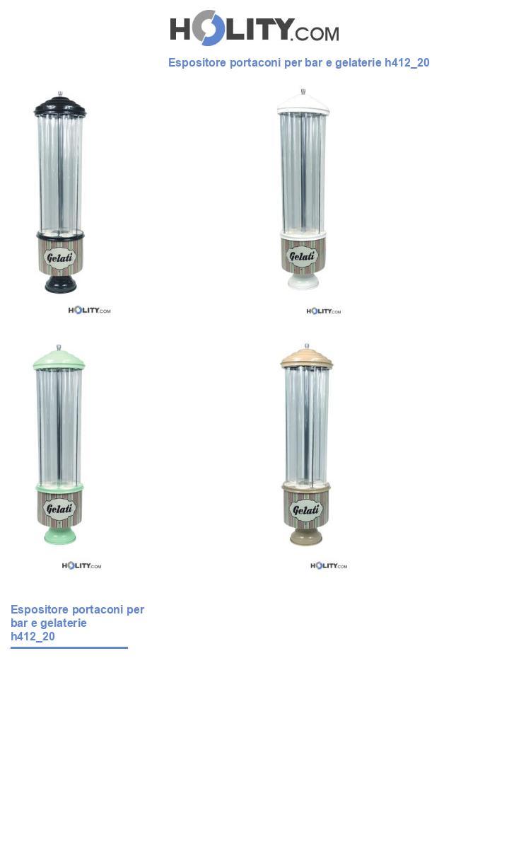 Espositore portaconi per bar e gelaterie h412_20