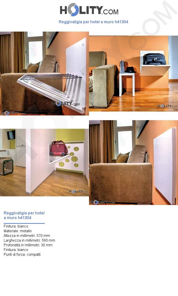Reggivaligia per hotel a muro h41304
