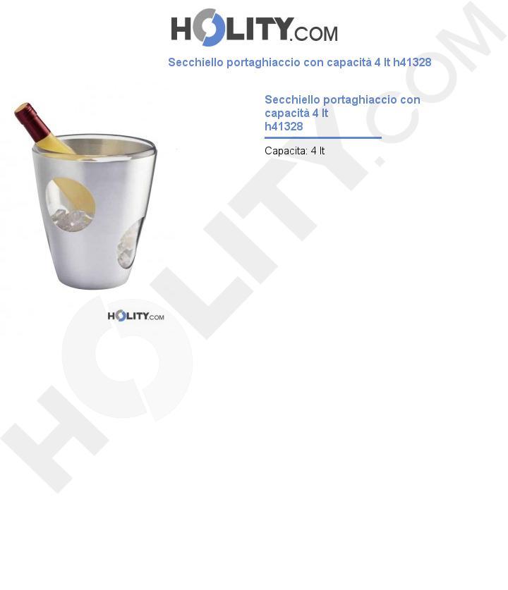 Secchiello portaghiaccio con capacità 4 lt h41328