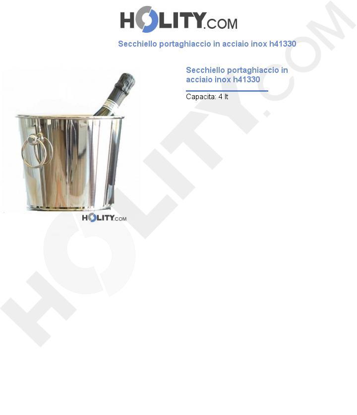 Secchiello portaghiaccio in acciaio inox h41330