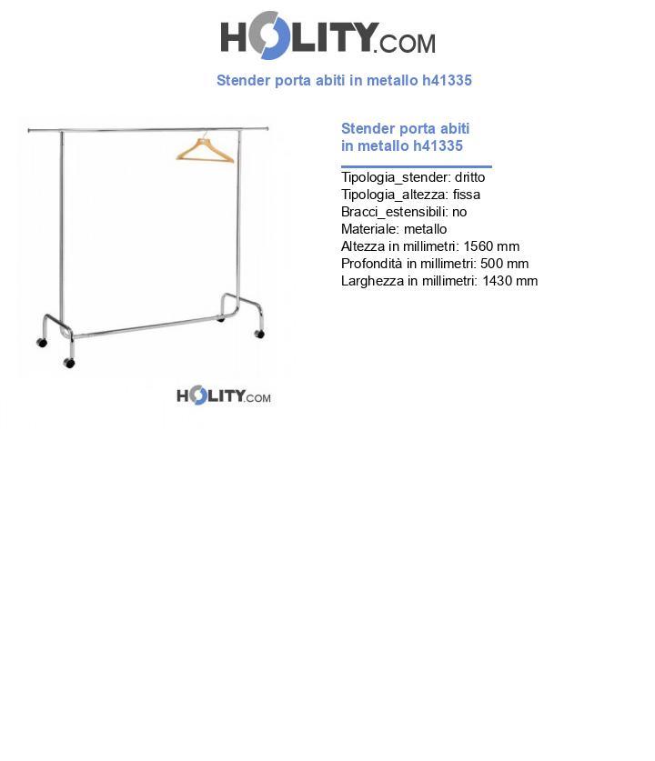 Stender porta abiti in metallo h41335