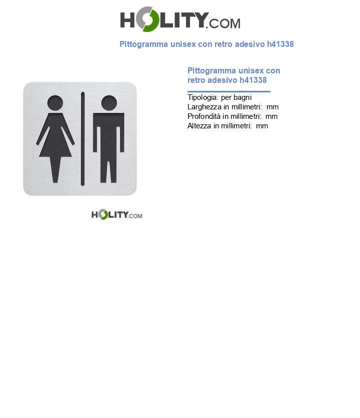 Pittogramma unisex con retro adesivo h41338