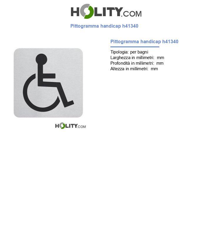 Pittogramma handicap h41340