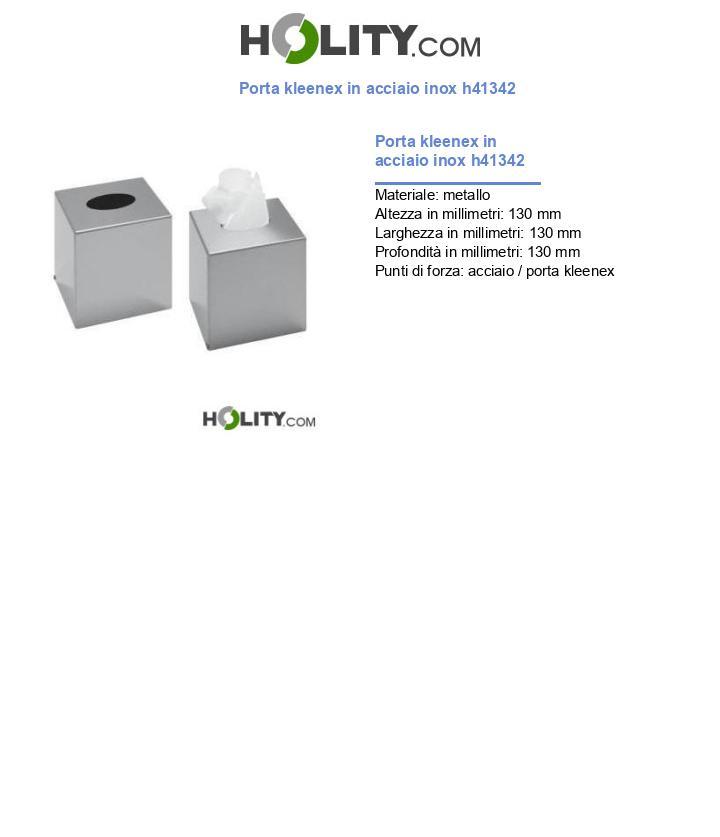 Porta kleenex in acciaio inox h41342