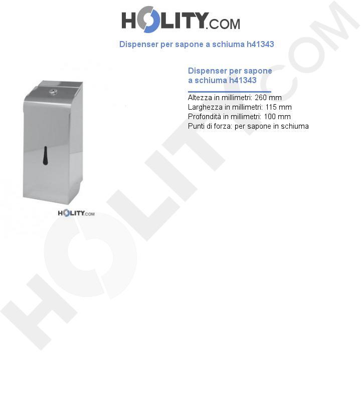 Dispenser per sapone a schiuma h41343