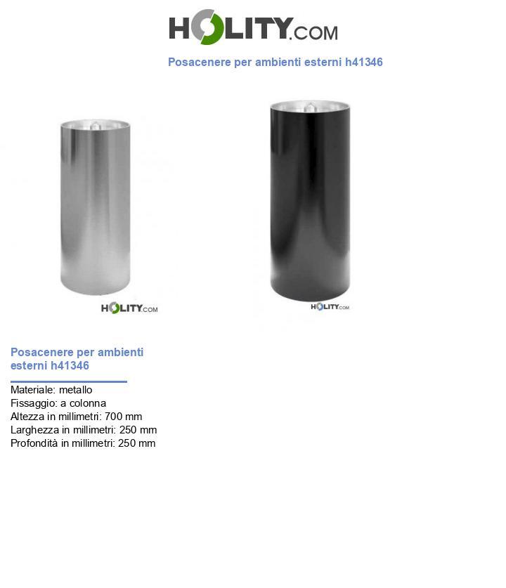 Posacenere per ambienti esterni h41346