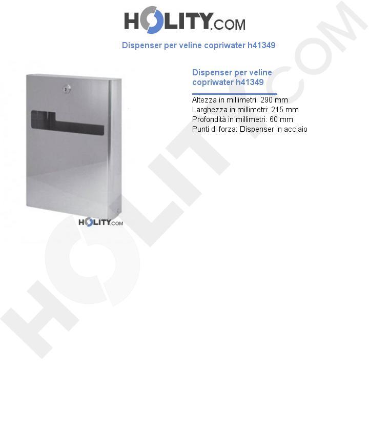 Dispenser per veline copriwater h41349