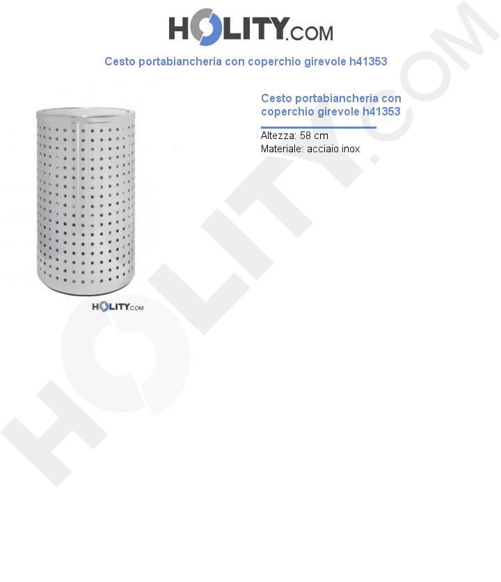 Cesto portabiancheria con coperchio girevole h41353