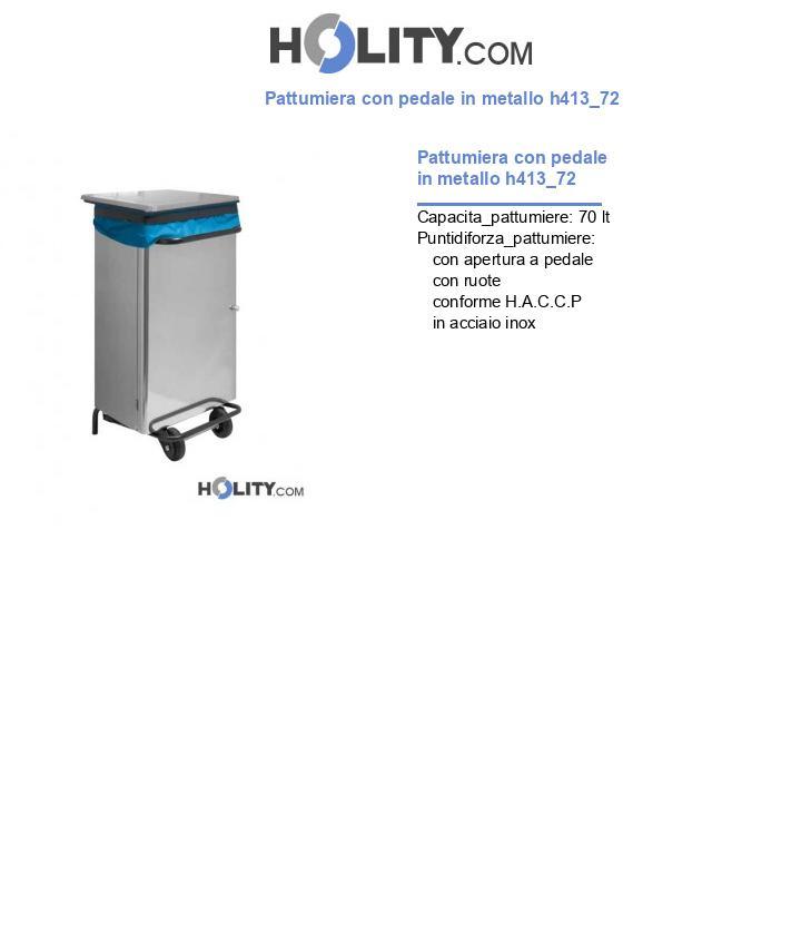 Pattumiera con pedale in metallo h413_72