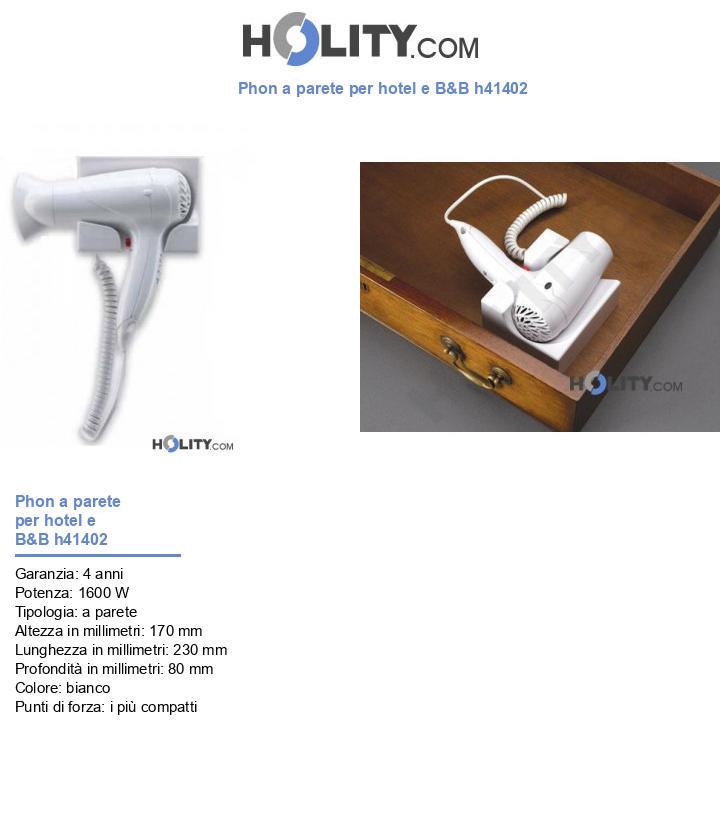 Phon a parete per hotel e B&B h41402