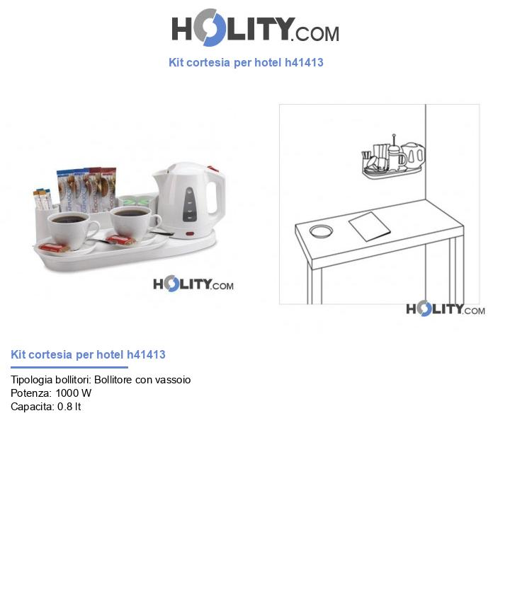 Kit cortesia per hotel h41413