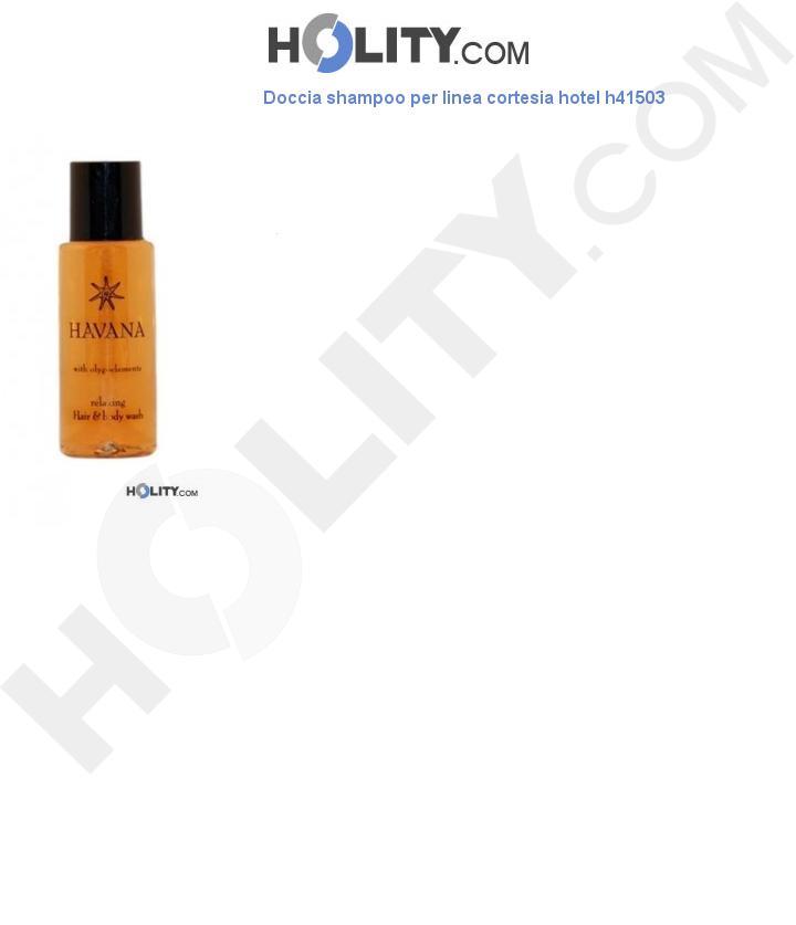 Doccia shampoo per linea cortesia hotel h41503