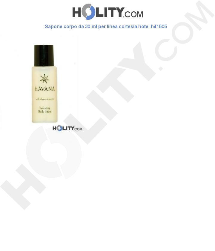 Lozione corpo da 30 ml per linea cortesia hotel h41505