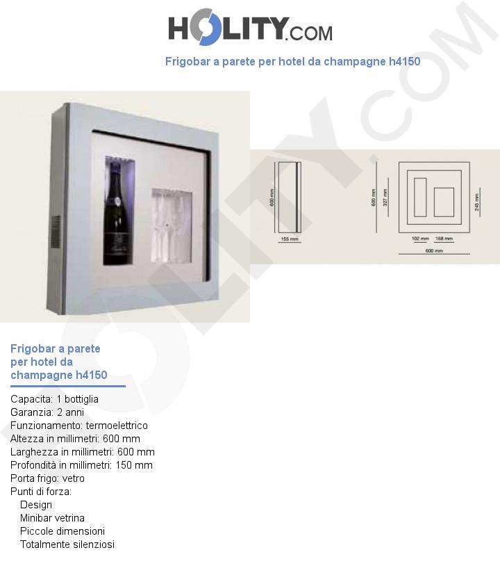 Frigobar a parete per hotel da champagne h4150