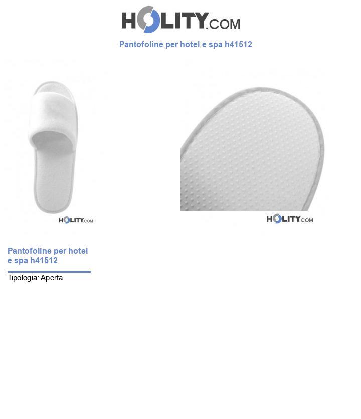 Pantofoline per hotel e spa h41512