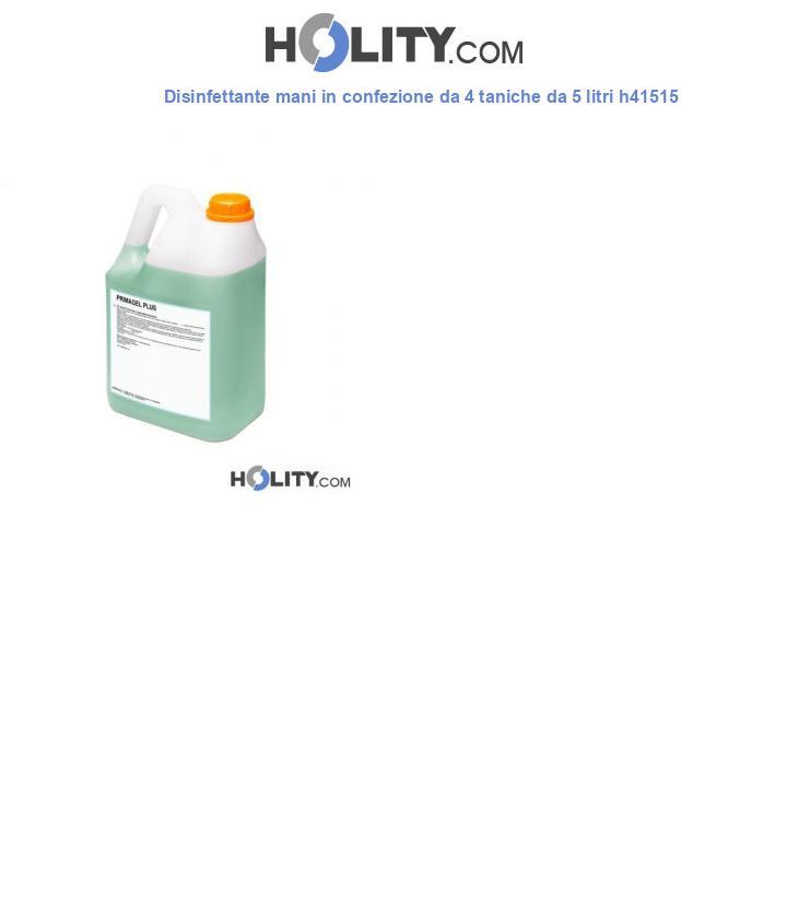 Disinfettante mani in confezione da 4 taniche da 5 litri h41515