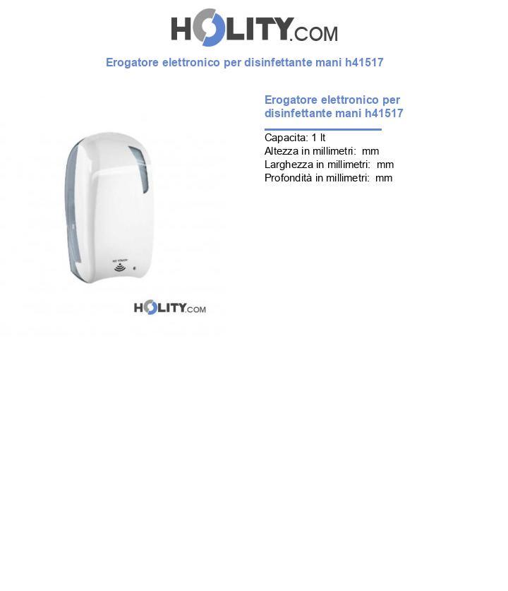 Erogatore elettronico per disinfettante mani h41517