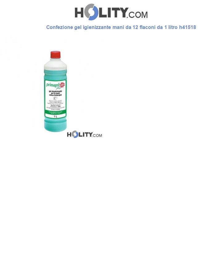 Confezione gel igienizzante mani da 12 flaconi da 1 litro h41518