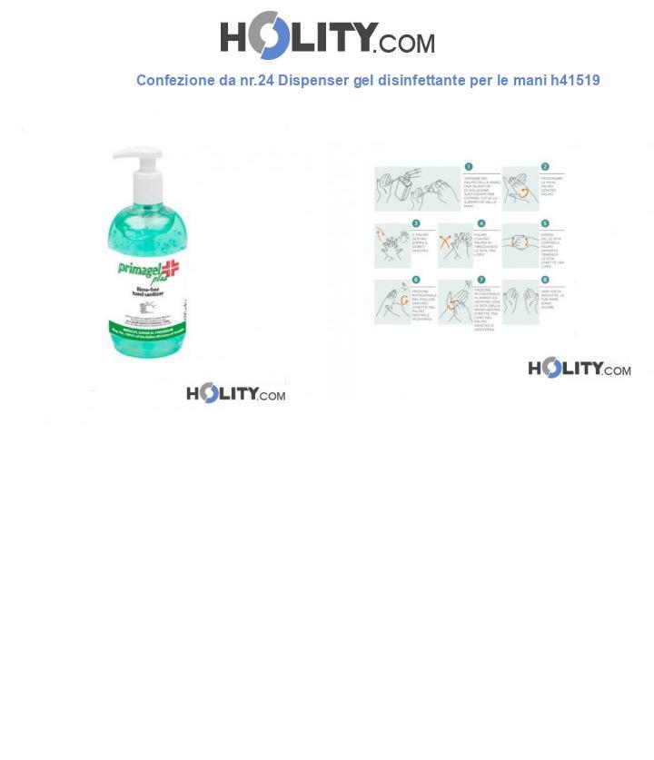 Confezione da nr.24 Dispenser gel disinfettante per le mani h41519