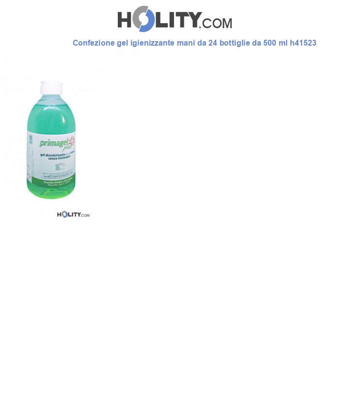 Confezione gel igienizzante mani da 24 bottiglie da 500 ml h41523