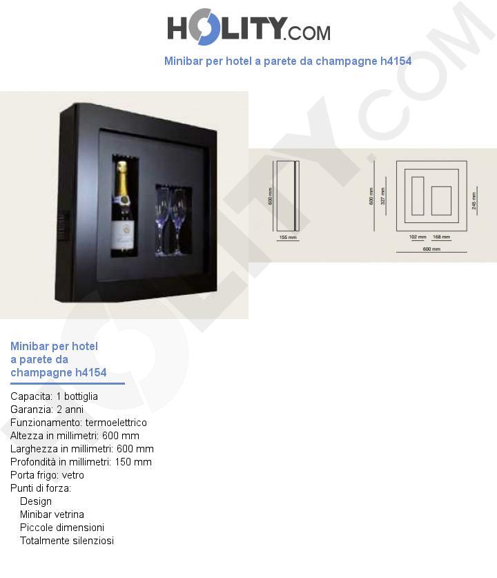 Minibar per hotel a parete da champagne h4154