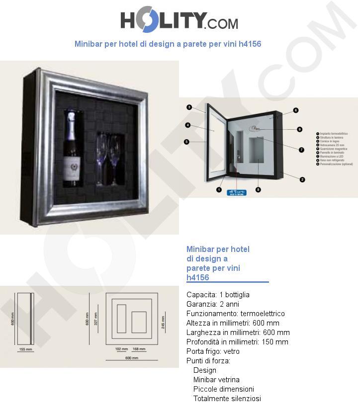 Minibar per hotel di design a parete per vini h4156