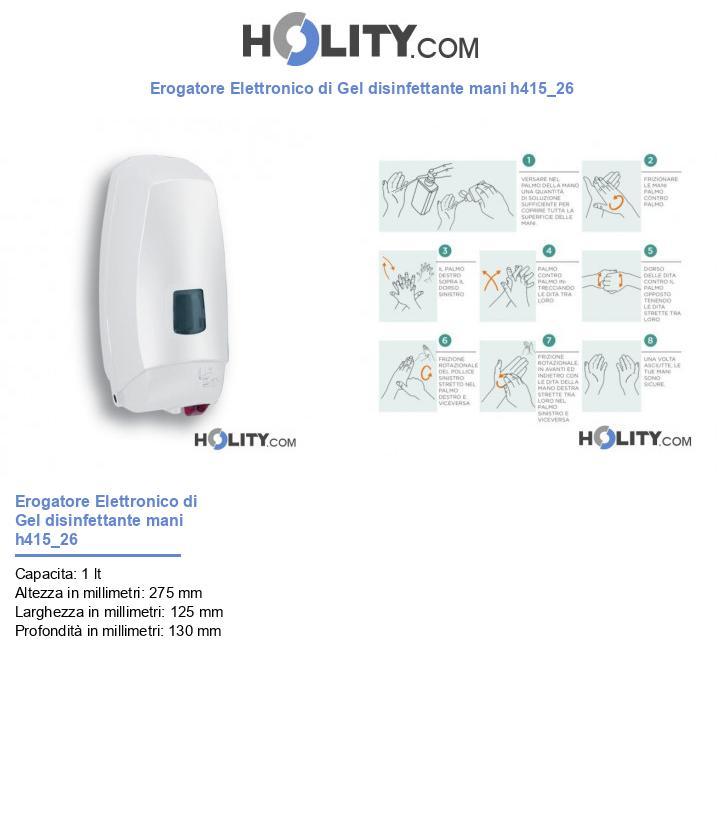 Erogatore Elettronico di Gel disinfettante mani h415_26