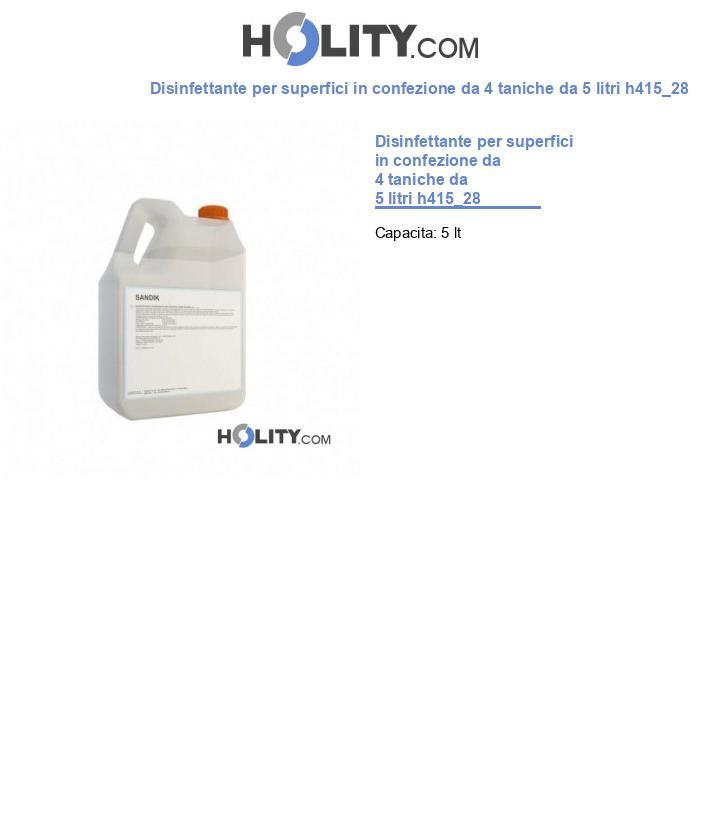 Disinfettante per superfici in confezione da 4 taniche da 5 litri h415_28