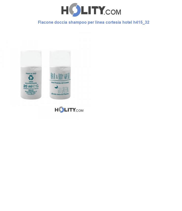 Flacone doccia shampoo per linea cortesia hotel h415_32