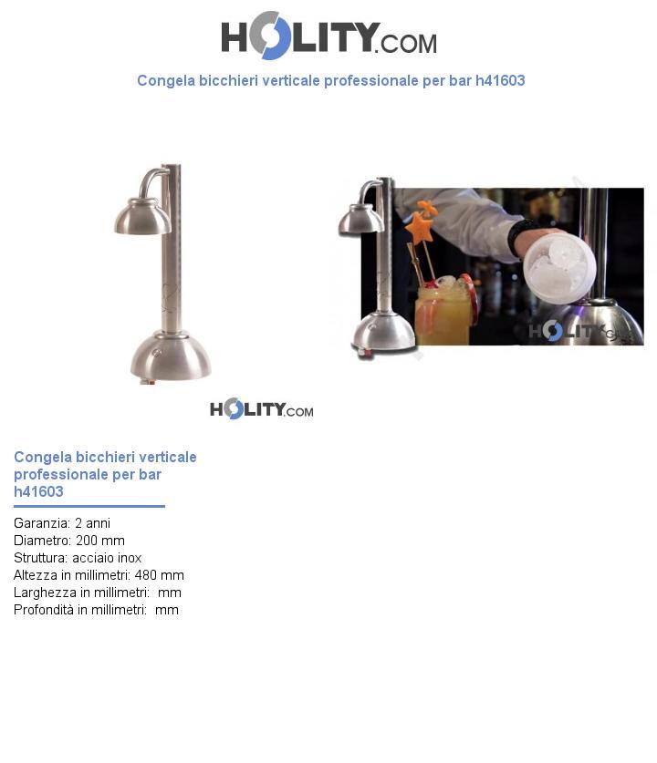 Congela bicchieri verticale professionale per bar h41603