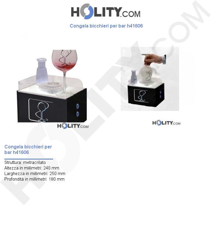 Congela bicchieri per bar h41606